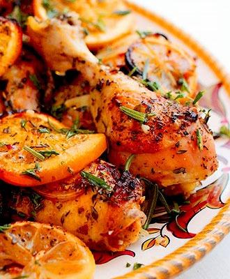 citrus herb marinated roast chicken
