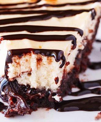 Brownie-Bottom Cheesecake