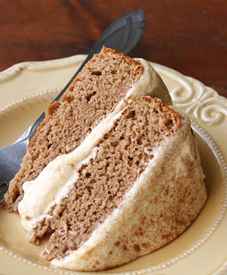 Gluten Free Spice Cake with a Pumpkin Buttercream