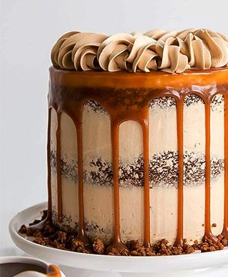 Gingerbread Cake with a Caramel Sauce