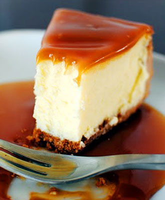 White Chocolate Caramel Cheesecake
