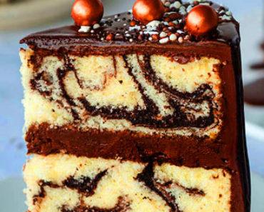 Marbled Fudge Cake