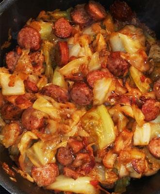 Cajun Cabbage Jambalaya