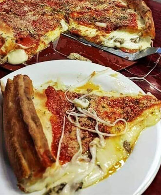 Homemade Chicago Style Deep Dish Pizza
